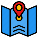 gps, location, navigation, place, shopping icon