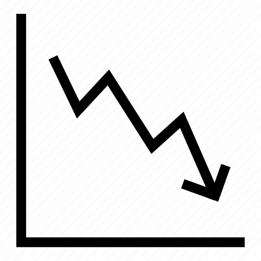 business, chart, down, forex, graph, speculation, statistics icon