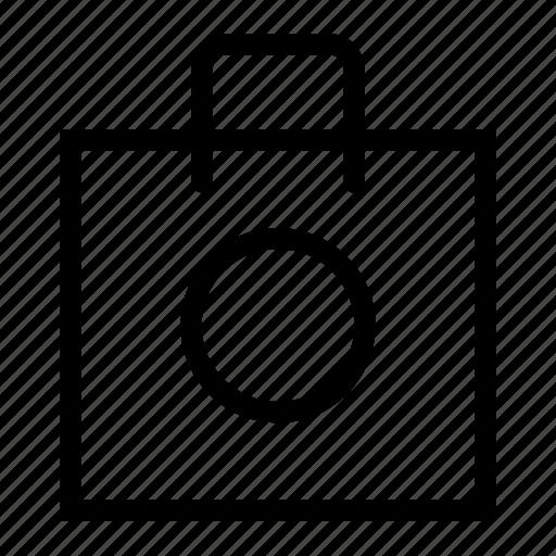 bag, open, shopping icon