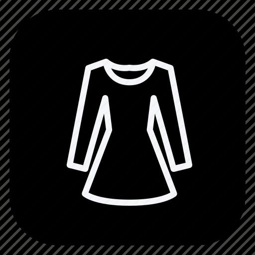 dress, finance, long sleeve dress, money, online, shopping, store icon