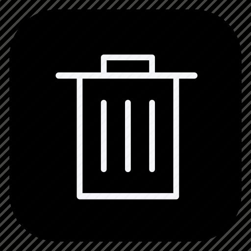 finance, money, online, rubbish bin, shopping, store, trash bin icon
