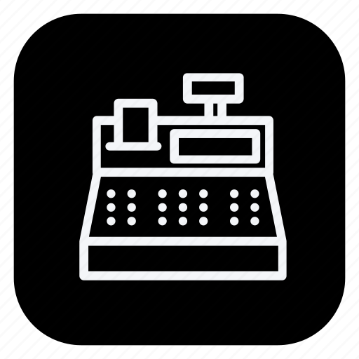 cash register, currency, finance, money, online, shopping, store icon