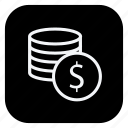 cash, currency, dollar, money, online, shopping, store icon