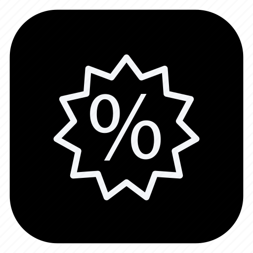 discount, finance, money, online, percentage, shopping, store icon