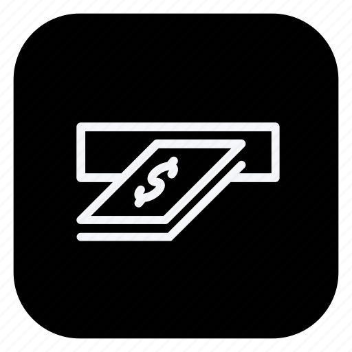 atm, cash, money, online, payment, shopping, store icon