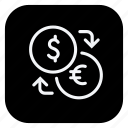 money, online, shopping, cash, currency, dollar, euro icon