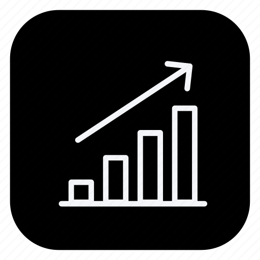 finance, growth, increase, money, online, shopping, store icon