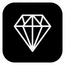 diamond, finance, money, online, shop, shopping, store icon