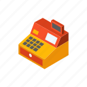 business, cash register, counter, machine, money, shop, store icon