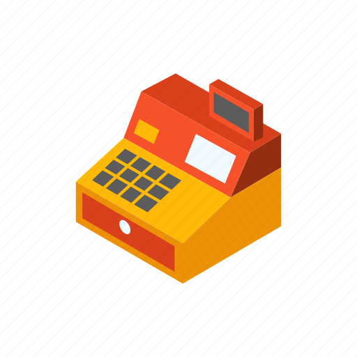 business, cash register, counter, machine, money, shop, store icon