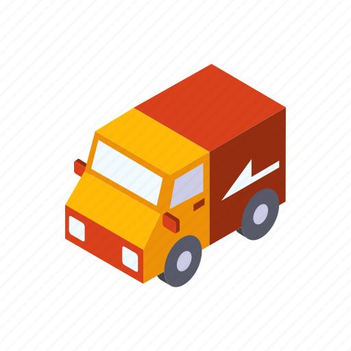 business, courier, delivery, service, transportation, truck icon