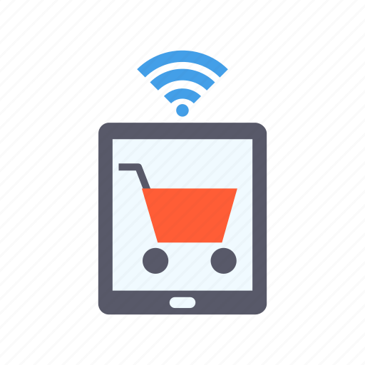 cart, electronic, online shopping, purchase, shop, technology, wireless icon