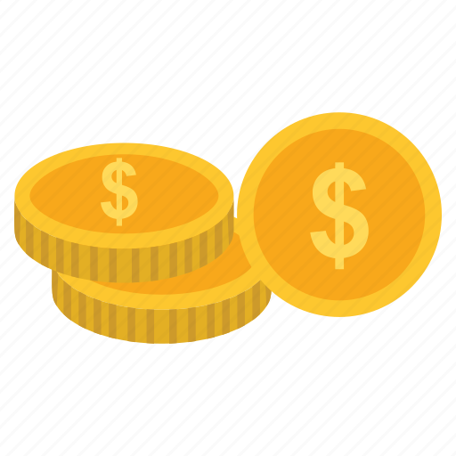 business, coins, dollar, shopping icon