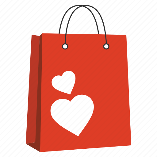 bag, business, red, shopping icon