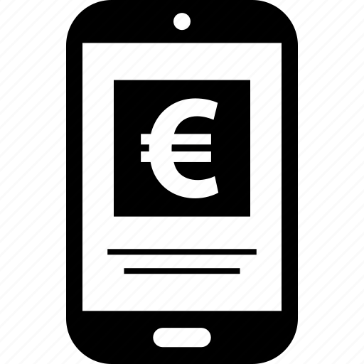 cell, euro, money, phone icon