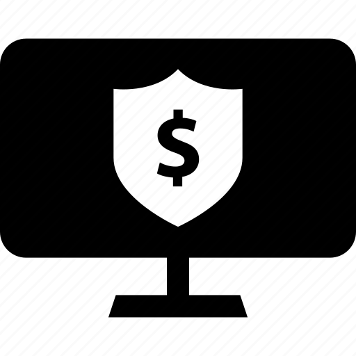business, pc, shield icon