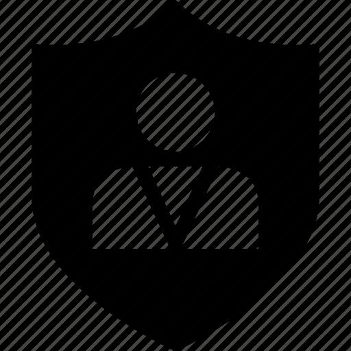 money, person, shield icon
