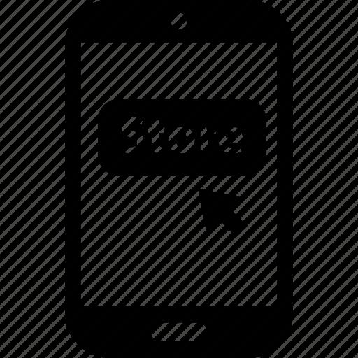 click, money, store icon