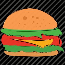 beefburger, burger, cheeseburger, fast food, food, hamburger, junk food icon