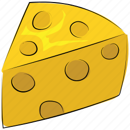 cheese, cheese block, cheese piece, dairy product, food, meal icon