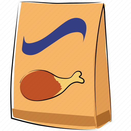chicken piece, delivery food, food pack, leg piece, meal, meal pack, thigh meat icon