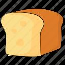 bakery food, bakery product, bread, bread loaf, breakfast, food, staple food icon