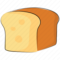 bakery food, bakery product, bread, bread loaf, breakfast, food, staple food icon