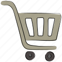 ecommerce, online shopping, online store, shopping, shopping cart, shopping trolley icon