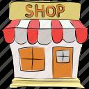 market, market stand, retail shop, shop, shopping store, store, super store icon