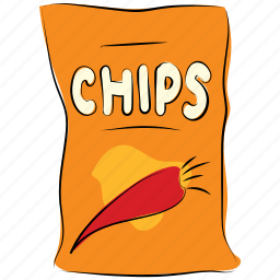 appetizer snack, potato chips, potato crisp, savory snack, side dish, snack, snack food icon