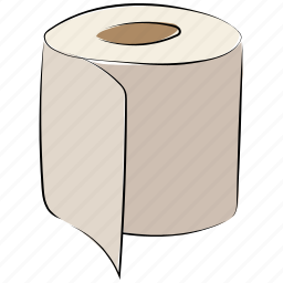 bath paper, bog roll, paper roll, paper towel, tissue roll, toilet paper, toilet roll icon