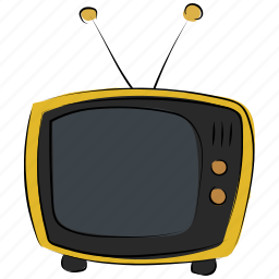 old tv, retro tv, television, tv, tv set, vintage tv icon