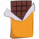 chocolate, chocolate bar, dessert, food, sweet, sweet food icon