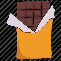 chocolate, chocolate bar, dessert, food, sweet, sweet food icon