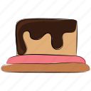 cake, cake pudding, dessert, food, pastry, sweet, sweet dessert icon