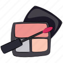 cosmetics, eyeshadows, eyeshadows kit, face beauty, makeup, makeup kit icon