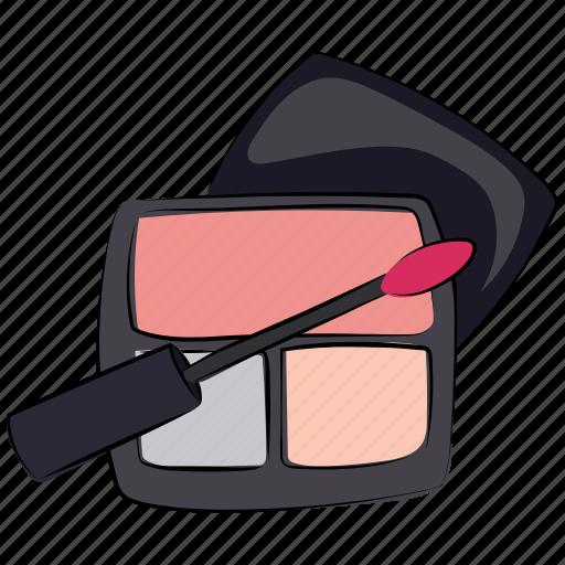 cosmetics, eyeshadows, eyeshadows kit, face beauty, makeup, makeup kit icon