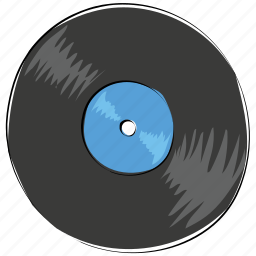 cd record, gramophone record, lp, music disk, record disk, vinyl, vinyl record icon
