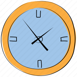 alarm clock, clock, stopwatch, time, timepiece, timing, wall clock icon