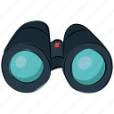 binocular telescope, binoculars, field glass, looking, scope, searching, view icon