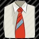 clothes, clothing, dress shirt, garments, necktie, shirt, tie