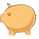cash bank, cash box, money bank, money box, penny bank, piggy bank icon