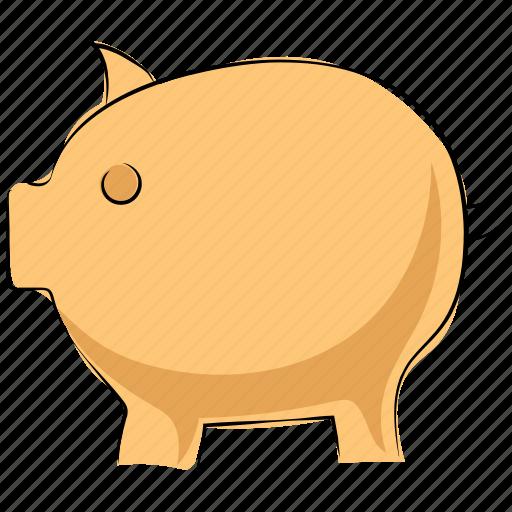 cash bank, cash box, money bank, money box, penny bank, piggy bank icon