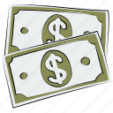 bank note, cash, currency, currency note, dollar note, money, paper money