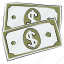 bank note, cash, currency, currency note, dollar note, money, paper money icon