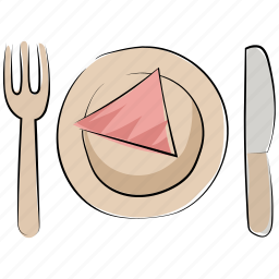 cutlery, dining, flatware, food, fork, knife, meal icon