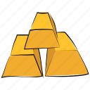gold, gold bar, gold biscuits, gold brick, gold ingot, gold pile, ingots icon