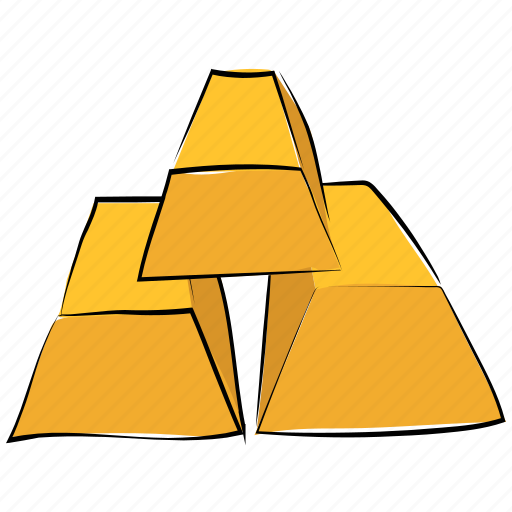 gold, gold bar, gold biscuits, gold brick, gold ingot, gold pile, ingots icon