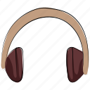 ear speaker, earphones, hands free, headphones, headset, music icon
