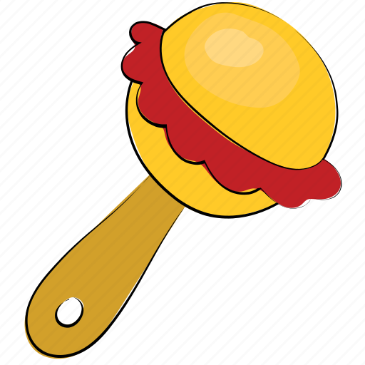 baby toy, kids toy, maraca, noisemaker, rattle, rattle instrument, toy icon